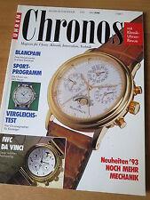 CHRONOS Nr. 3 1993 - Uhren Zeitschrift, Uhrenheft, Magazin