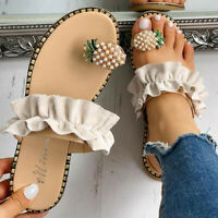 Womens Fashion Pineapple Sandals Toe Ring Sandals Summer