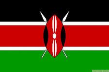KENYA FLAG 3X2 feet 90cm x 60cm FLAGS Kenyan Nairobi