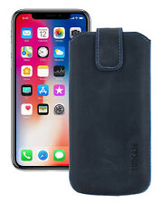 """IPHONE 11 (6.1 """") Leather Cover Case Cover Pebble Blue Case+Silicone Case"""