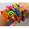 10pcs Lovely Kids Wood Bracelets Birthday Party Gift Favor Jewelry Wholesale New