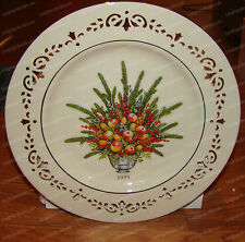 Lenox Bone China Virginia, First Colony Colonial Bouquet Plate (1995) 24K Trim