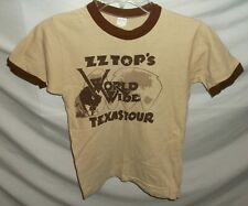 Vtg Zz Top World Wide Texas Tour Arrested for Driving While Blind 70's T-Shirt M