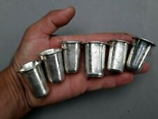 6 Antique Russian 84 Silver  Cup Engraved 81 grams