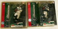 Lot of 2 Chad Pennington #10 New York Jets Quarterback Figure New in Package.