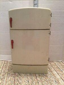 """Vintage 1950's Wolverine Child Toy Kitchen Refrigerator 13"""" Tall Wonderful!!"""