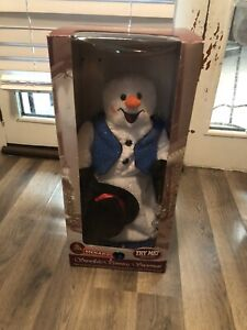 Gemmy Animated Christmas Spinning Snowflake Snowman Works Super!