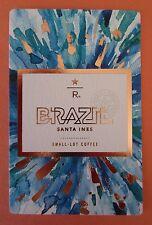 STARBUCKS 2015 - Series Reserve Tasting Card BRAZIL SANTA INES - NEW