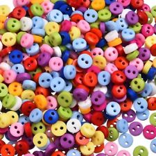 600PCs Round Candy Color Scrapbooking Embellishment Resin Sewing 2 Holes Buttons