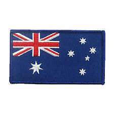 AUSTRALIA FLAG PATCH FOR BIKIE BIKER VEST EMBROIDED SHIRT CAP HELMET JACKET UTEs
