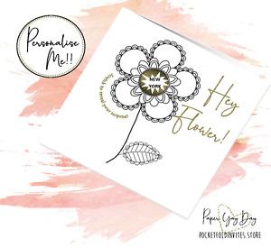 Customised Flower Surprise Card. Scratch & Reveal Surprise Card.