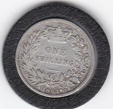1853    Queen  Victoria  Sterling  Silver  Shilling  British Coin