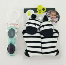 Cat & Jack Newborn Toddler Sunglasses detachable strap & bonus Seat Belt Protect
