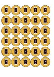 30 x Cup Cake Edible Cake Topper  Rice Paper Tik Tok TikTok Iphone
