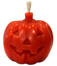 Large British Hand Made,Orange Beeswax Pumpkin Candle, Halloween Free P&P