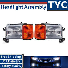 TYC 2X Left + Right Headlight Assembly Replacement Kit For 1988-1991 Ford F-150