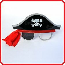 PIRATE HAT CAP SKULL BONES SCARF EYE PATCH GLASSES SUNGLASSES-COSTUME-DRESS UP