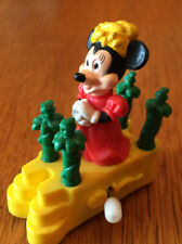 """Vintage wind-up Minnie Mouse on a parade float (2"""") giveaway from Burger King"""