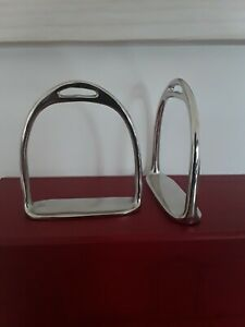 "Rocking horse stirrups Nickel 3"" sole"