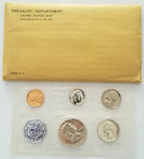 1956 P.C. USTreasury Department Mint Coin Proof Set Sealed W/Original Envelope