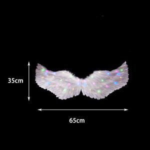 1pc Women Girl LED Light Feather Wing Christmas Angel Costume Party Home Decor