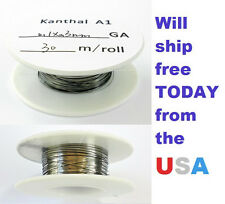 Kanthal Ribbon A1 Flat Wire 0.3mm X 0.1mm,100 ft Roll (30m Roll) 14.63 Ohms/ft