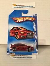 #3  2008 Lancer Evolution #127 * RED w/ FTE Rims * 2009 Hot Wheels * B12