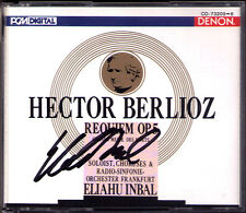 Eliahu INBAL Signed BERLIOZ REQUIEM Keith Lewis DENON Japan 2CD Frankfurt Radio