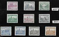 #6037  MNH complete stamp set / B a M WWII Occupation / Architecture Third Reich