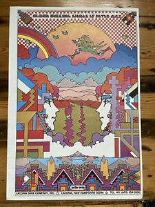 """Peter Max Psychedelic """"cloud Walking Shoes""""Poster Authentic Vintage 1969,11x16"""