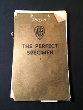 1937 The Perfect Specimen Errol Flynn Original Continuity Movie Script MS22
