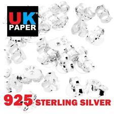 925 SOLID STERLING SILVER BUTTERFLY EARRING BACKS SCROLLS STOPPER 4 EAR STUD PIN