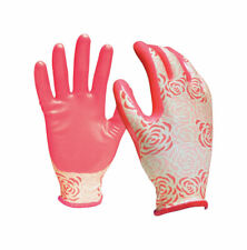 Digz  Pink  Women's  L  Nitrile Coated  Gardening Gloves