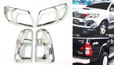 Toyota Hilux 2011-2016 CHROME HEAD AND TAIL LIGHT LAMP COVERS TRIMS M206M207