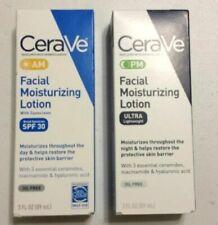 CeraVe PM Moisturizing Night Lotion Face Moisturizer + Cerave AM Facial Lotion