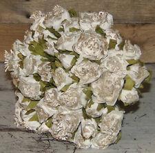 VINTAGE CHARM ROSE BOUQUET White Roses Wedding Flowers Wedding/Home Decor New
