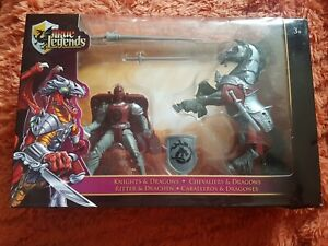 TOYS R US TRUE LEGENDS KNIGHT & DRAGONS/HORSE BATTLE SET RARE NEW IN BOX - GIFT