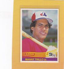 1984 DONRUSS BASEBALL #575 MANNY TRILLO EXPOS NMMT *63182