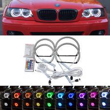 LED Angel Eyes Halo Bague BMW e46 3 Series non-hid Phare halogène RGB