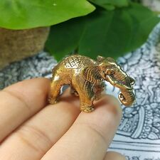 10 pcs Dollhouse Miniature Figurine Brass Elephant Animal Metalwork Collectible