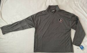 Florida State Seminoles SZ 2XL Mens Pullover Grey Section 101 Majestic NWT