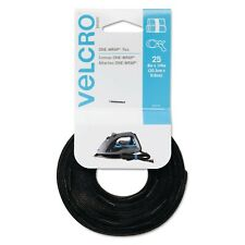 VELCRO Brand Reusable Self-Gripping Cable Ties - Tie - Black - 25 Pack