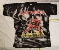 Vtg  Iron Maiden Number of the Beast shirt  NOT a  reprint.  Judas Priest