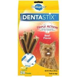Pedigree DentaStix Triple Action Beef Flavor 24 Small Dog Treats