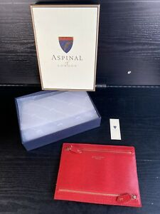 Aspinal Of London Multi Currency Wallet Berry Lizard Red - NEW & BOXED