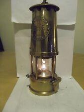 Miners lamp ,Protector  Eccles Type 6 Full Brass excellent,mining memorabilia