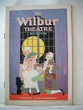 THE LAST WALTZ Playbill OSCAR STRAUS / WALTER WOOLF Tour BOSTON 1922