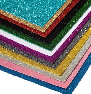 GLITTER FELT - For Sparkly Craft Making Bows Gifts Fancy Dress BUY 3 GET 1 FREE!