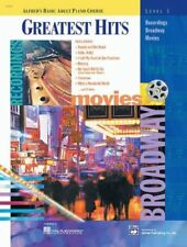 """ALFRED'S BASIC ADULT PIANO COURSE """"GREATEST HITS"""" LEVEL 1 MUSIC BOOK BRAND NEW!!"""