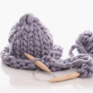 Large Wooden 20mm Crochet Hook Circular Knitting Needles For Chunky Bulky Yarn